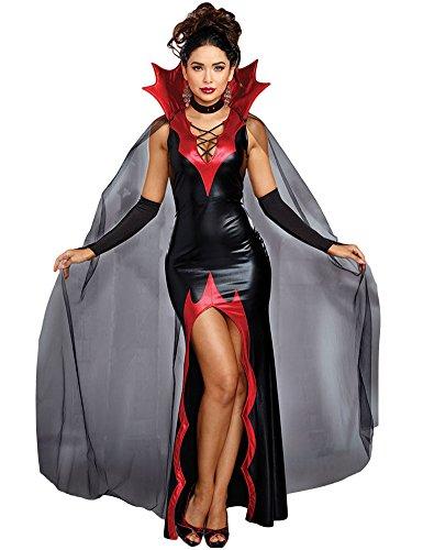 Kostüme Damen (Romacci Damen Halloween Kostüm Vampir Kleid Kostüm mit Kap Handschuhe)