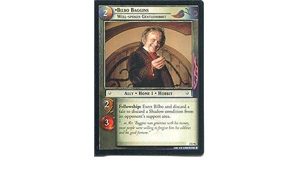 Well Spoken Gentlehobbit Lord Of The Rings CCG Card MoM 2.U96 Bilbo Baggins