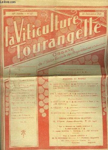 LA VITICULTURE TOURANGELLE- 32° ANNEE - N°12 par COLLECTIF