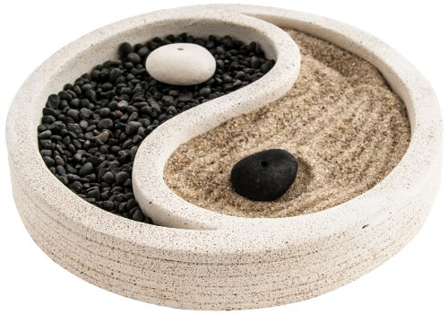 Berk KH-885 Feng Shui - Jardín zen, diseño de ying yang, color blanco
