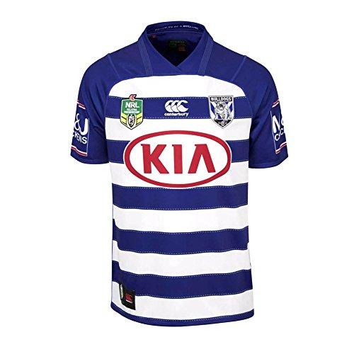 Canterbury Bulldogs NRL 2018 Alternativo Heritage Manga Corta Camiseta de Rugby - Bulldogs Azul - Azul, Large