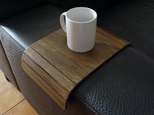 Holz sofa armlehnentisch in vielen farben wie dunkle nussbaum Armlehnentablett Moderner tisch für couch Klein schleichendes sofatisch Armlehne flexibel tablett Falten couchtisch Kleine tische -