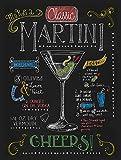 Martini Cocktail Nostalgie Metall blechschild Wandschild Küche Neuheit Geschenk Werbung
