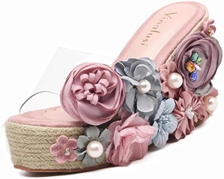 QPSSP Zapatillas Con Fondo Grueso, Resbaladizo, Resbaladizo, Cool, Remolcado, Cool, Slippery Zapatos De Mujer,...