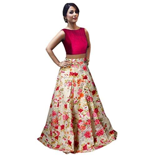 Shoryam Fashion Girl's Birthday Party Wear Semi Stitched Salwars Suit Gown Lehenga...