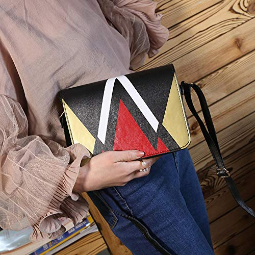Fyyzg koreanische Version der Umhängetasche Spleißen Handy-Umhängetasche Diagonale überspannt kleine quadratische Tasche - Gold