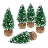 ILOVEDIY 10Stück Weihnachtsbaum Künstlich Klein Weihnachtsdeko 4.5cm 6.5cm 12.5cm (Grün, Höhe 4.5cm-10Stück)