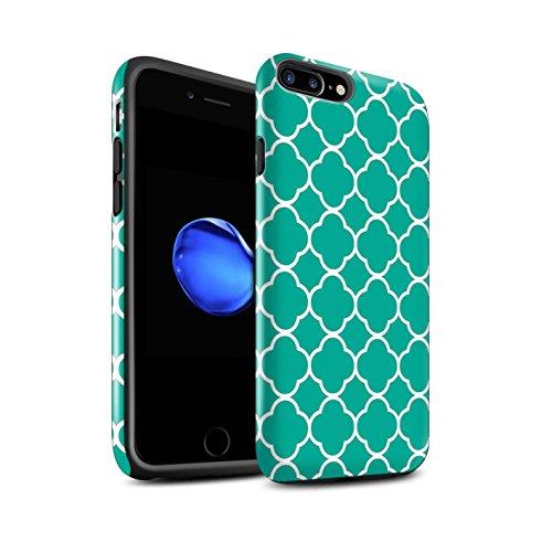 STUFF4 Glanz Harten Stoßfest Hülle / Case für Apple iPhone 7 / Quatrefoil/Klee Muster / Teal Mode Kollektion Quatrefoil/Klee