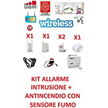 Kit central Alarma Inalámbrico de incendio intrusión humo WiFi sin hilos GSM