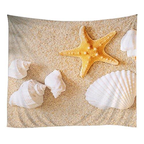 Wongfon Hand gedruckte Raumdekoration, Marine Tapestry mit Sonnenuntergang und Palm Dekoration, wie eine Picknickdecke, Tagesdecken, Badetücher