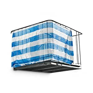 brise vue brise pare soleil pour balcon avec corde de fixation 500 x 180 cm bleu blanc amazon. Black Bedroom Furniture Sets. Home Design Ideas