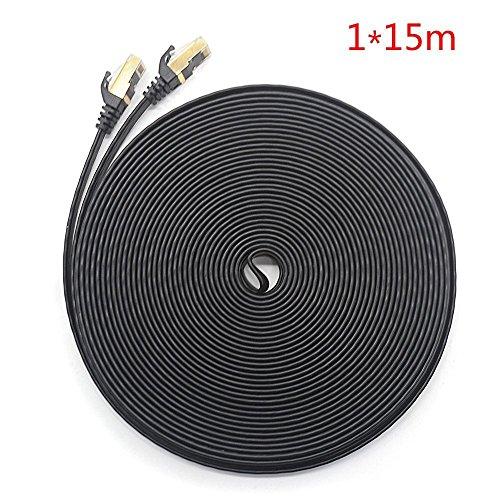 Rayinblue Ethernet-Kabel, 15M, schwarz, Stück: 1