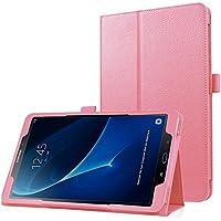 Slim cover para Samsung Galaxy Tab J A 10.1 (SM-T580/SM-T585) Funda Carcasa con Stand Función y Imán Incorporado para el Sueño / Resistente al polvo, Resistente a rayones - Rosa