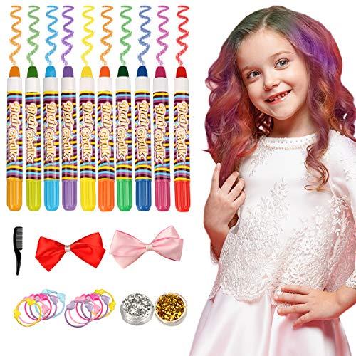 Philonext 10 Farbe temporäre Haare Kreide Stifte Geschenk-Set -