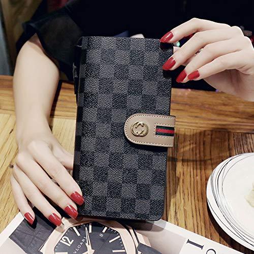 LFGCL Damen Geldbörse Lange Schnalle Schließe Handtasche Mode Flut Multifunktions Damen Geldbörse Brieftasche, alte Blackbags Frauen