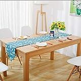 LGZOOT Blaues Kitz Mit Quaste Tischläufer Tischdecken (mit 4 Tischsets) Multi-Size-Tischdecken Für Restaurant-Küche Hochzeitsfeiern Bankett-Events,M