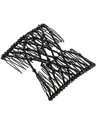 Sharplace Double Clip Comb - Afrikanische Schwarz Haarklammer Haarspange Haarclips Haarkämmchen