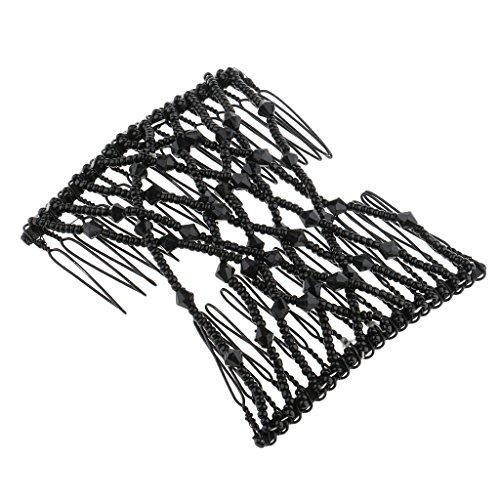 Sharplace Double Clip Comb - Afrikanische Schwarz Haarklammer Haarspange Haarclips Haarkämmchen -