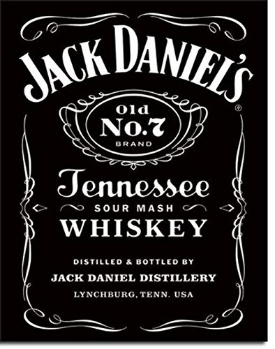 Jack Daniels Black Label Logo Cartel de chapa USA Grande Nuevo 40x 3