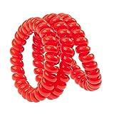 Set Kit ottima qualità per coiffures stylisme con 3nodi spirale/corde/Cables plastica per capelli senza tracce, colore rosso per vaga