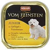 Animonda Vom Feinsten Junior Nassfutter für junge Hunde im ersten Jahr, aus Rind und Geflügel, 22 x 150 g