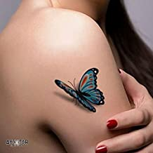 "Tatouage Temporaires ""Plumes & Papillons"" - ArtWear Tattoo Beauty - S0007 S"