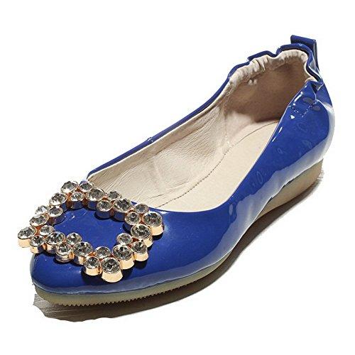 Allhqfashion Femme Chaussures Couleur Non Tire Rond Talon Verni Unie rSrRU4qxw