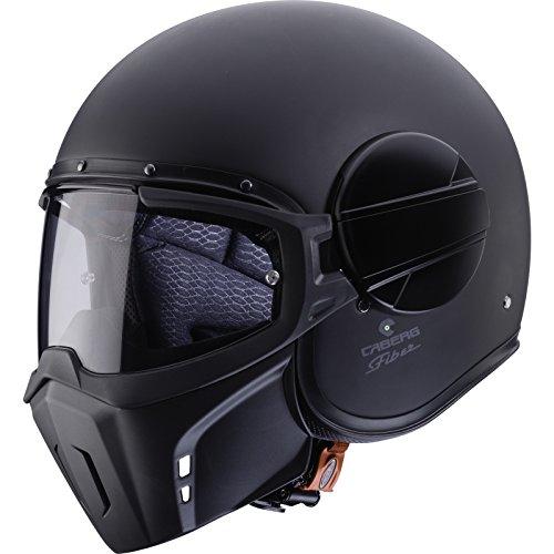 Caberg Ghost Matt Black Open Face Motorcycle Helmet M Matt Black