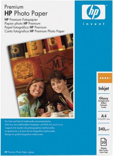 HP Fotopapier Premium Glossy A4 20 Blatt 240g/m²