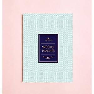 Wochenplaner mit Quadratische Punkte (keine Datum) • 2017 Wöchentliche Notizbuch • Agenda • Tagebuch • Brautjungfer Geschenk • Reiseplaner • Reiseplaner • Aufgabenliste • Tagesplaner • 2017