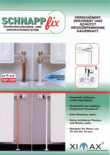 XIMAX Heizkörper Zubehör Schnappfix 8-fach, weiß, 90001 (Rohr Heizung)