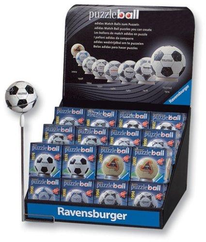 Preisvergleich Produktbild 09489 - Ravensburger Puzzleball -  Sortiment 1 von 8 Fußbälle, '74 - '02 - Ø 7 cm, 60 Teile