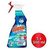 Der General Universal Bergfrühling, Allzweckreiniger Spray, Sprühflasche, (5 x 500 ml)