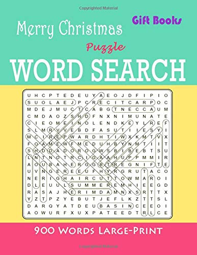 Gift Books Merry Christmas Puzzle Word Search: 900 Words Large-Print Games Brain For adults and Kids por Reagan Brady