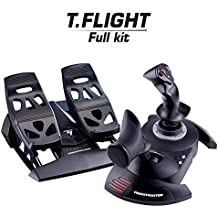 ThrustMaster - Pack Thrustmaster: T.Flight Full Kit Joystick de alta precisión T.Flight Hotas X + pedales de timón con sistema de raíles deslizantes para PC T.Flight Rudder Pedals (Windows)