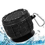 Dusche Lautsprecher, IPX7 wasserdicht Tragbares Bluetooth Lautsprecher Wasserfester Wireless Speaker mit FM Radio Wireless Bluetooth Speaker mit Super Bass und HD Sound Lautsprecher für Strand Pool -