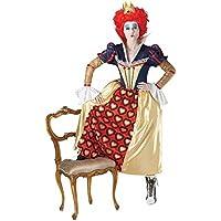 Rubies - Disfraz de Reina Roja para mujer, color azul y amarillo, talla M