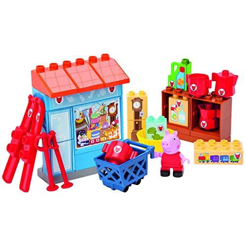 PlayBIG Bloxx - Peppa Wutz - Mr. Fox´s Laden - Spielset mit Peppa Pig Spielfigur, kompatibel mit bekannten Bausteinen