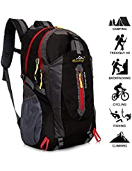 Baishiqi 40L Lightweight Hiking Backpack, Multi-functional Water-resistant Casual Camping Trekking Rucksack for Cycling Travel Climbing Mountaineer Outdoor Sport