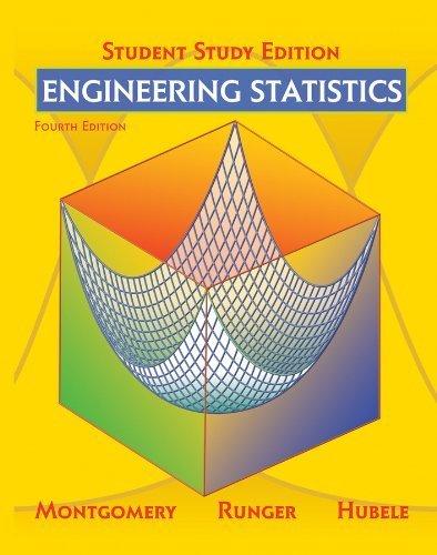 Engineering Statistics, Student Study Edition by Douglas C. Montgomery (2009-07-27)