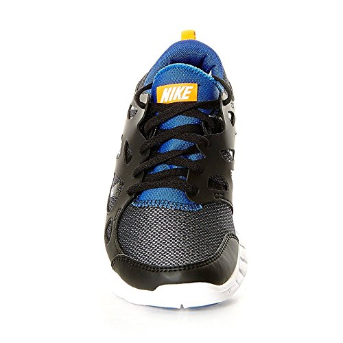 Nike Free Run 2 (Gs), 443742-021, Unisex - Kinder Laufschuhe Training black white total orange game royal 033