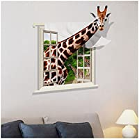 SODIAL(R) 3D Family DIY Removable Sky Art PVC Wall Stickers Decal Mural Home Kids Decor Pattern:giraffe
