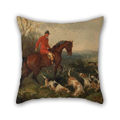 Slimmingpiggy Überwurf Kissen Fall von Ölgemälde William J. Shayer - foxhunting- at Cover für Home Theater Home Office Teens Jungen Auto Familie 50,8 x 50,8 cm/50 von 50 cm (je Seite) -