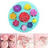 Stampi in silicone a forma di rose 3D, formine per cioccolato, zucchero fondente, torte, candele e sapone