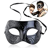 winomo Roman Masquerade Maske schwarz Venezianische Maske Herren Frauen Kostüm Party Halloween