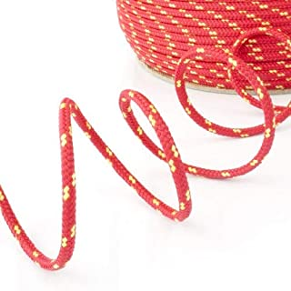 50m red polypropylene rope poly cord 3mm