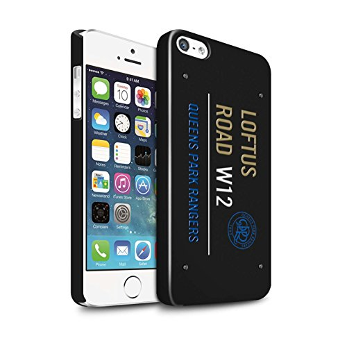 Officiel Queens Park Rangers FC Coque / Clipser Brillant Etui pour Apple iPhone SE / Pack 8pcs Design / QPR Loftus Road Signe Collection Noir/Or