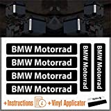 6pcs Reflective Stickers compatible with BMW Motorrad R 1200 1150 F 800 650 F700 GS A R1200GS R1200 Touratech Motorcycle Aluminium Panniers SIDE BAGS Top CASE (Black)