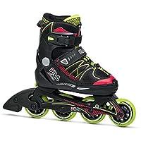 Fila Skates X-One Pattini In Linea, Bimbo, Nero/Rosso/Lime, L