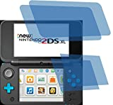 4x ANTIREFLEX matt Schutzfolie für New Nintendo 2DS XL Konsole